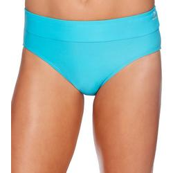 Womens Lifestyle Solid Drawcord Brief Swim Bottom