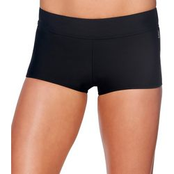 Reebok Womens Lifestyle Infinity Solid Short Swim Bottoms