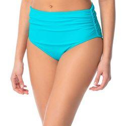 Coco Reef Womens Shirred Side High Waist Swim Bottoms