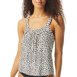 Womens Leopard Print Tankini Top