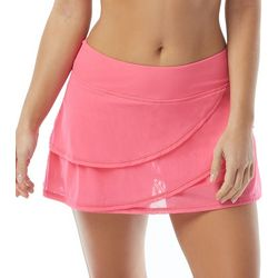 Coco Reef Womens Mesh Tiered Skirted Swim Bottoms