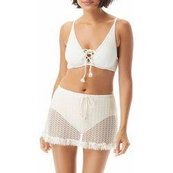Coco Reef Womens Lace Front Crochet Bra Bikini Top