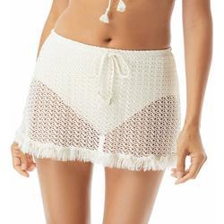 Womens Skirted Crochet Swim Bottoms