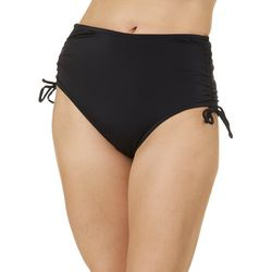 Reel Legends Womens Solid Side Ruched Swim Bottoms