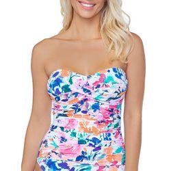 Leilani Womens Solstice Floral Bandeau One Peice Swimsuit