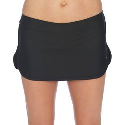 N BY NEXT Womens Solid Tulip Hem Swim Skort