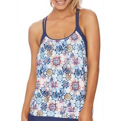N BY NEXT Womens Floral Layered Crossover Bralette Tankni