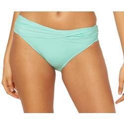 Womens Solid Twist Front Swim Bottoms