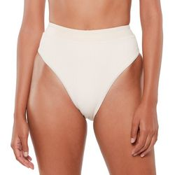Sanctuary Womens Solid Textured Brief Swim Bottom