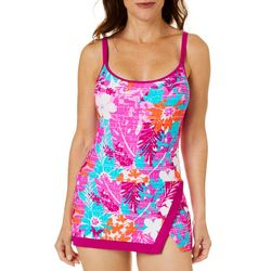 Into the Bleu Womens Tropical Fever Swimdress
