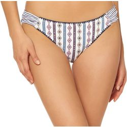 Jessica Simpson Womens Morroccan Stripe Bikini Bottoms