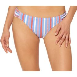 Jessica Simpson Womens Miami Stripe Bikini Bottoms