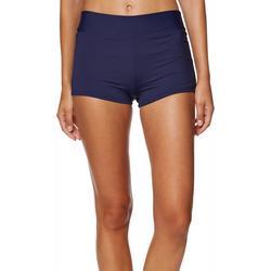 Womens Solid Core Swim Shorts