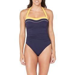 Nautica Womens Colorblock One Piece Swimsuit