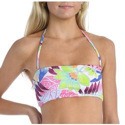 Juniors Tropical Halter Swim Top