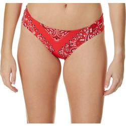 Juniors Paisley Bandana Hipster Swim Bottoms