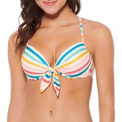 Juniors Chroma Push Up Strappy Bikini Top