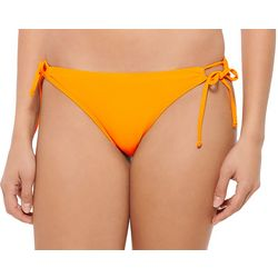 Hot Water Juniors Solid String Tie Scruched Swim Bottoms
