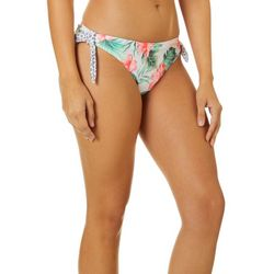 Hot Water Juniors Wild Flower Tie Side Swim Bottoms