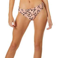 Hot Water Juniors Leopard Wide Hipster Swim Bottoms