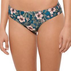 Juniors Hibiscus Print Cheeky Bikini Swim Bottoms