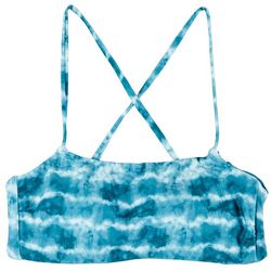Hot Water Juniors Tie Dye Reversible  Bralette Swim Top