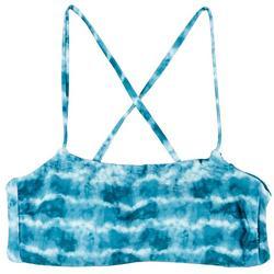 Juniors Tie Dye Reversible  Bralette Swim Top