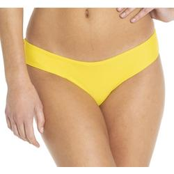Juniors Solid Ruched Back Brief Swim Bottoms