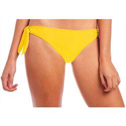 Juniors Solid Brooke Side Tie Swim Bottoms