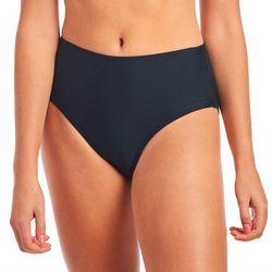 Juniors Solid Hi-Waist Swim Bottoms