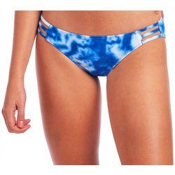 Juniors Lagoon Tie Dye  Caged Swim Bottoms