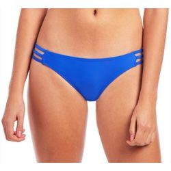 Juniors Sapphire Caged Swim Bottoms