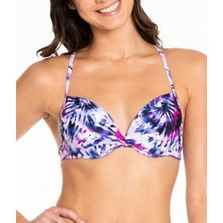 Cyn & Luca Juniors Tie-Dye Twist Front Swim Top
