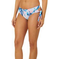 Wallflower Juniors Bella Leaf Side Tie Bikini Swim Bottoms