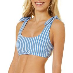 Wallflower Juniors Striped Bralette Swim Top