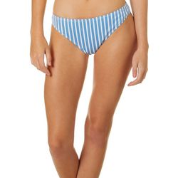 Juniors Bella Stripe Bikini Swim Bottoms