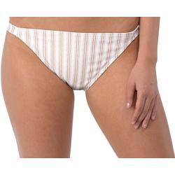 Juniors Deliah Stripe Bikini Swim Bottoms