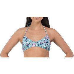 Wallflower Juniors Molly Floral Halter Bralette Swim Top