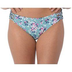 Wallflower Juniors Molly Floral Netted Side Swim Bottoms