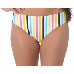 Juniors Zara Stripe Bikini Swim Bottoms