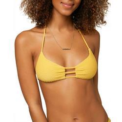 Juniors Textured Bralette Bikini Top