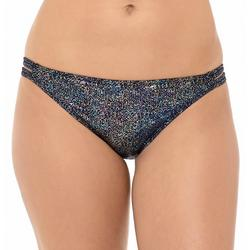 Juniors Glitery Full Coverage Bikini Bottom