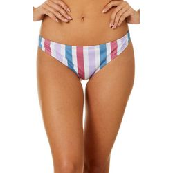 Juniors Sienna Striped Cheeky Swim Bottoms