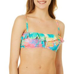 Reel Legends Juniors Tropical Party Ruffle Bralette Swim Top