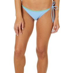 Reel Legends Juniors Solid Tie Side Bikini Swim Bottoms