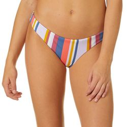 Juniors Fresa Stripe Reversible Cheeky Swim Bottoms