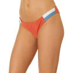 Juniors Majestic Striped Tab Cheeky Swim Bottoms