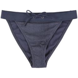 Radar Juniors Solid Textured Hi-Leg Swim Bottoms