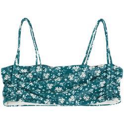 Juniors Floral Bandeau Bralette Swim Top