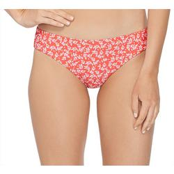 Juniors Saturday Floral Cheeky Ruched Swim Bottoms